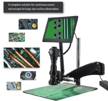 Long Reach Digital Inspection Microscope with Camera HD Live Output with Display - GXM-HD62
